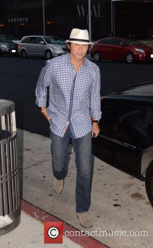 Lou Diamond Phillips at Mr Chow restaurant Los...