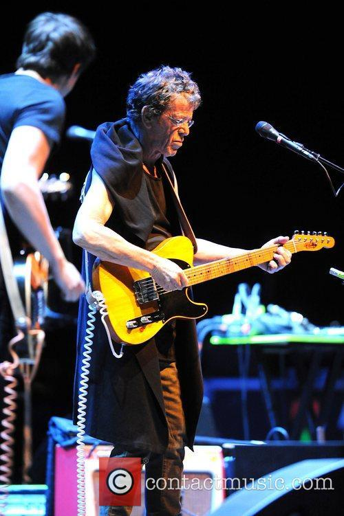 Lou Reed performing live at the Heineken Music...