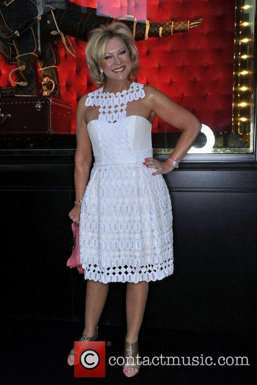 Kerri-Anne Kennerley arrives at the instore cocktail party...