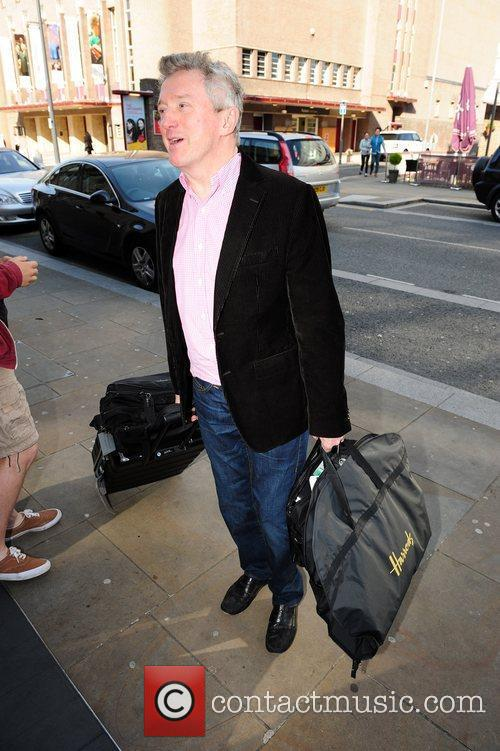 Louis Walsh at his hotel in Liverpool the...