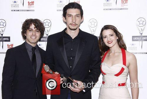 Jacob Young, Adam Driver and Rose Hemingway The...