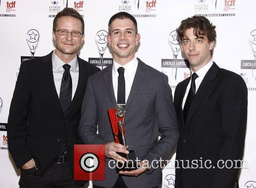 Will Chase, Stephen Karam and Christian Borle The...
