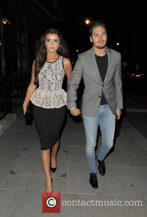 Lucy Mecklenburgh and Mario Falcone enjoy a dinner...