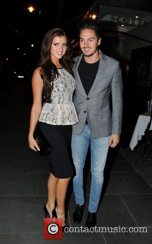 Lucy Mecklenburgh and Mario Falcone at her 21st...