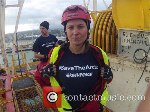 Greenpeace has posted a picture of Actress Lucy...