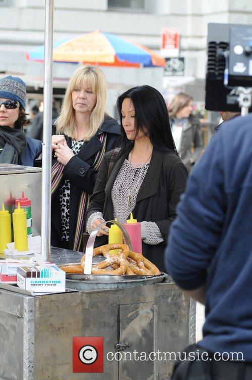 lucy liu on the set of the 3789897