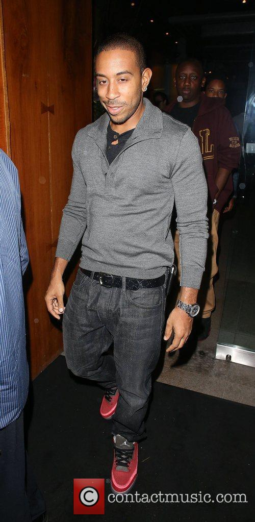 American rapper Ludacris seen leaving Zuma Restaurant London,...