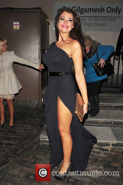 Jessica Wright leaving Lydia Bright's birthday party at...