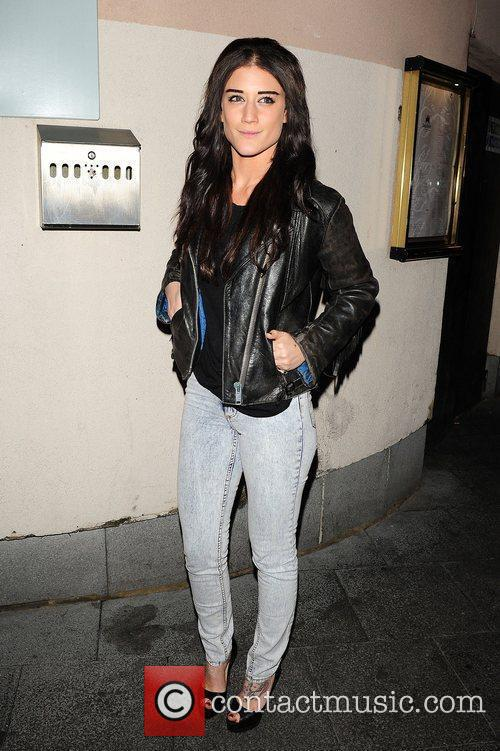 Katie Waissel leaving Lydia Bright's birthday party at...