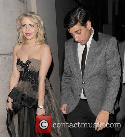 Lydia Rose Bright and boyfriend James Argent leaving...