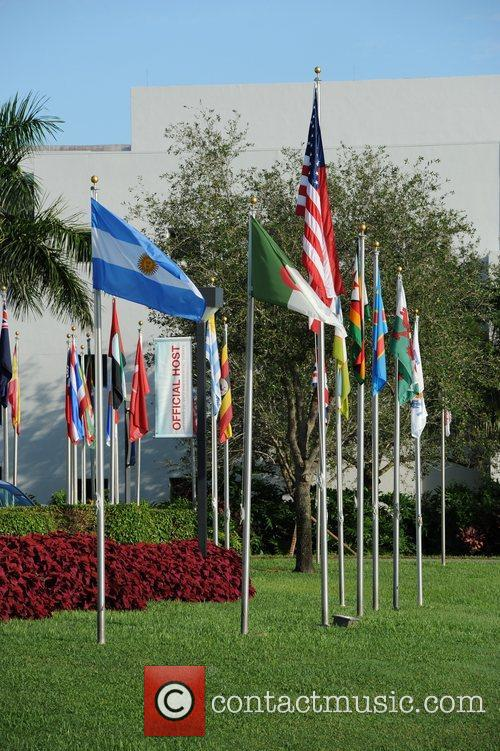 A general view of Lynn University, the host...