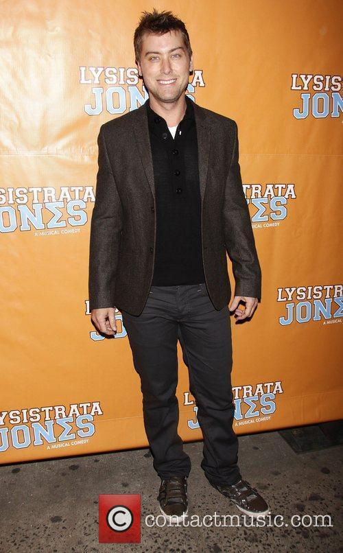 Lance Bass  Broadway opening night of 'Lysistrata...