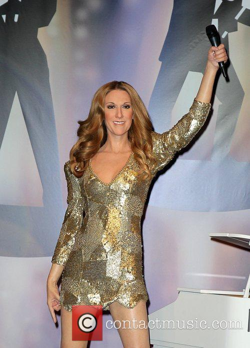 The wax figure of Celine Dion is unveiled...
