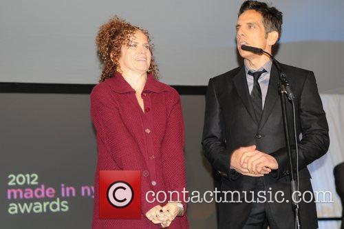 Ben Stiller, Anne Meara and Christine Taylor 1