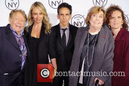 Jerry Stiller, Anne Meara, Ben Stiller and Christine Taylor
