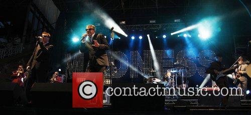 Madness performing at Newmarket Racecourse