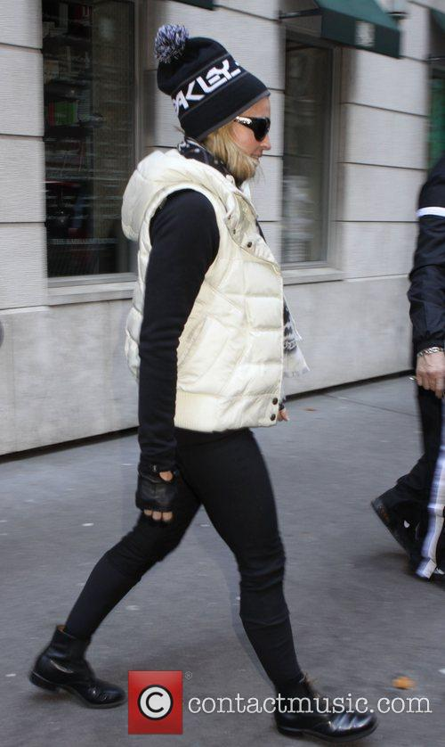 Madonna is seen leaving a Kabbalah centre in...