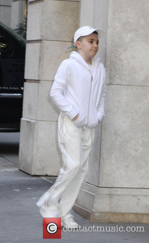 Rocco Ritchie arrives at the Kabbalah center in...