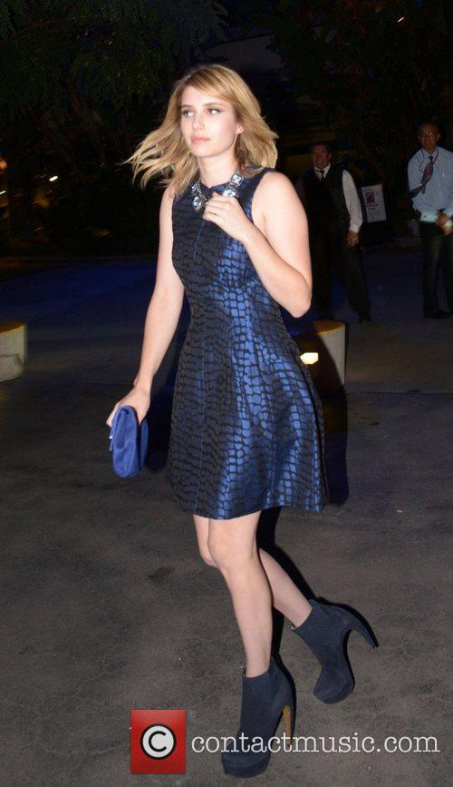 Emma Roberts arrives to watch Madonna in concert...