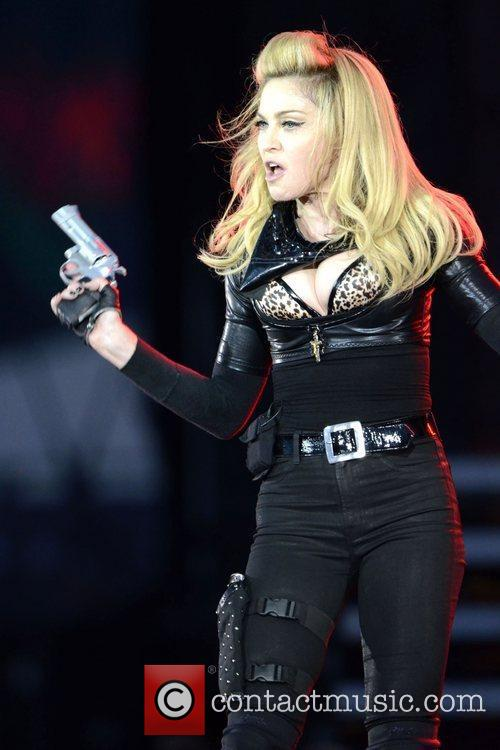 Madonna performing on her MDNA Tour