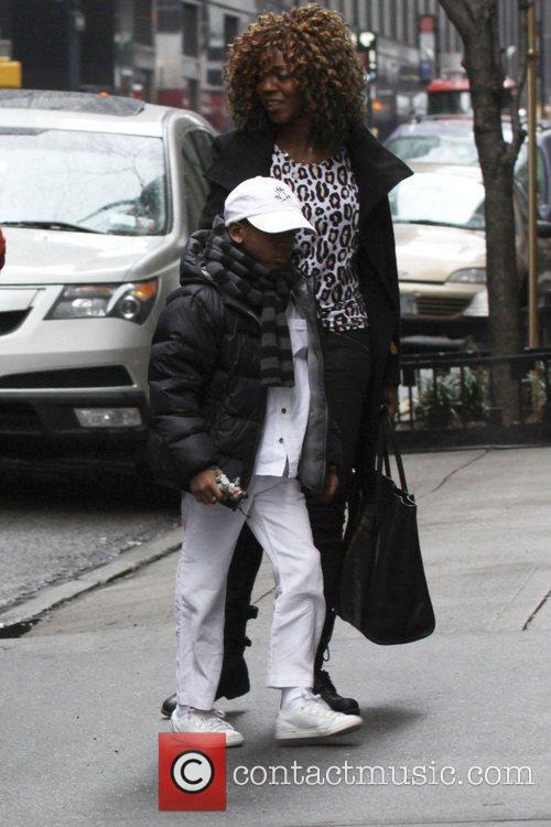 David Banda Madonna and her family are seen...