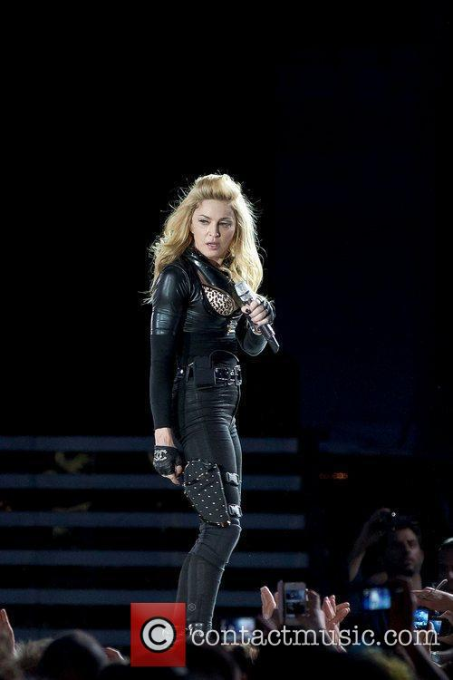 Madonna during her MDNA tour 2012