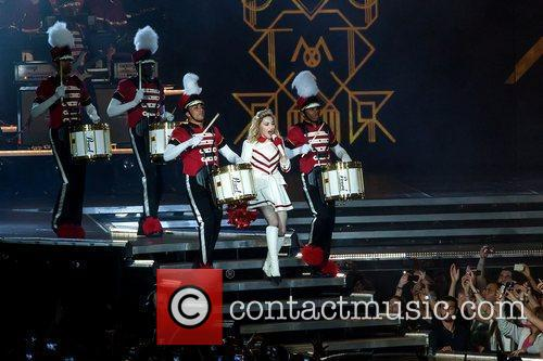 Madonna performs live during her first 'MDNA' concert...