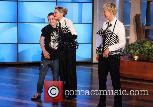 Ellen Degeneres, Madonna, The Ellen, Show, Later Madonna's, Rocco, Splash and Breast Cancer Awareness Month