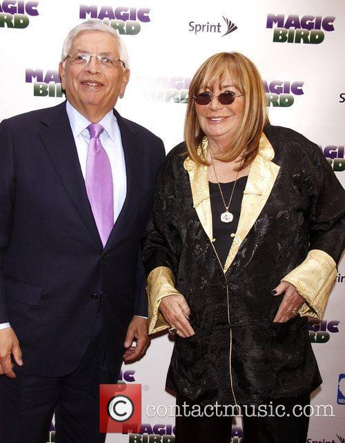 David Stern and Penny Marshall  Broadway opening...