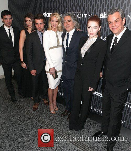 Steven Strait, Christian Cooke, Danny Huston, Dominik Garcia-lorido, Kelly Lynch and Mitch Glazer 1