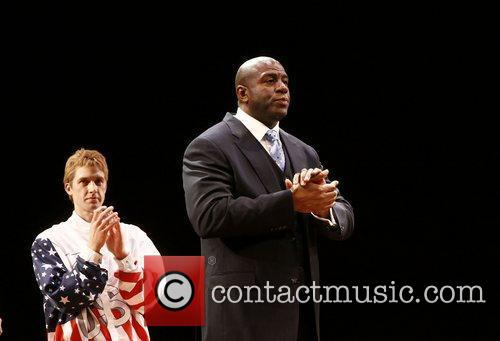 Tug Coker and Earvin Magic Johnson  Broadway...