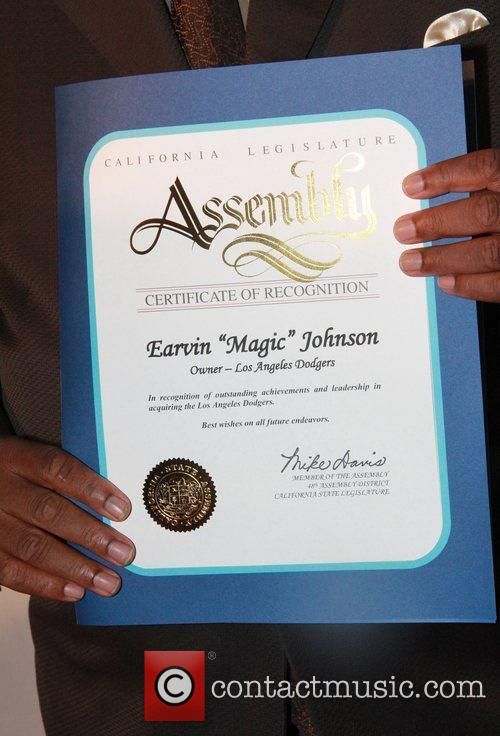 magic johnsons certificate of appreciation celebration of magic 3920934
