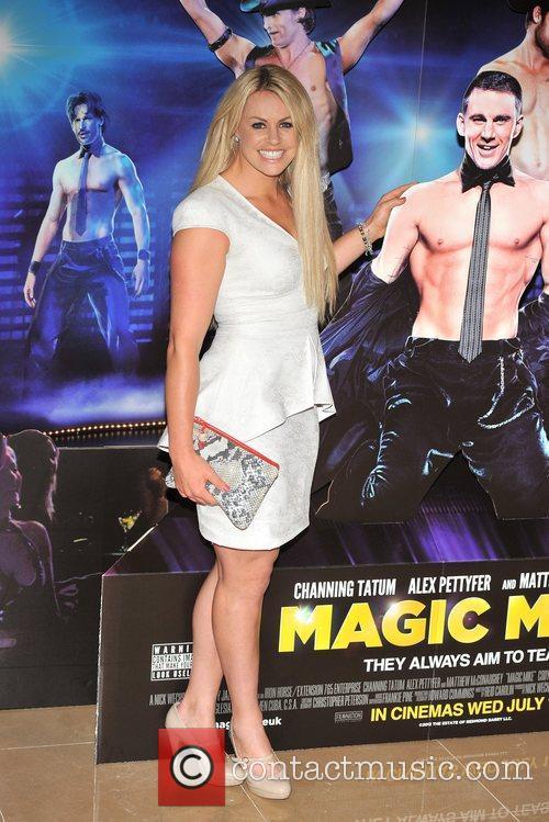Chemmy Alcott Magic Mike UK film premiere held...