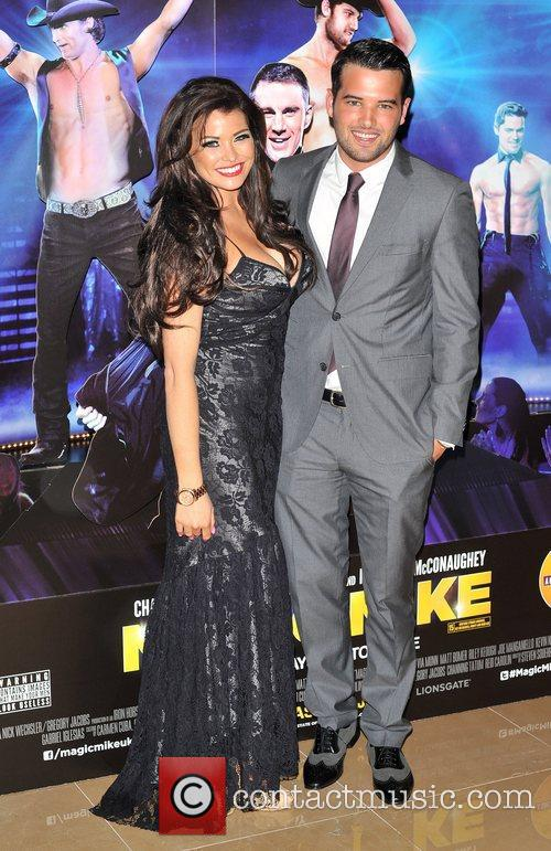 Jessica Wright and Ricky Rayment Magic Mike UK...