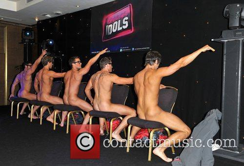Dream Idols performing on stage,  'Magic Mike'...