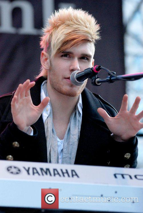 Colton Dixon performs at The BMO Harris Bank...