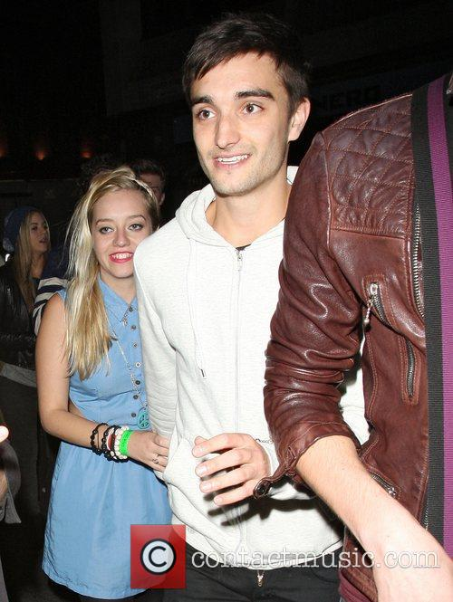 Tom Parker from The Wanted at Mahiki nightclub....
