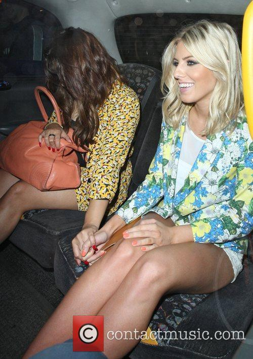 Mollie King and Vanessa White leaving Mahiki by...