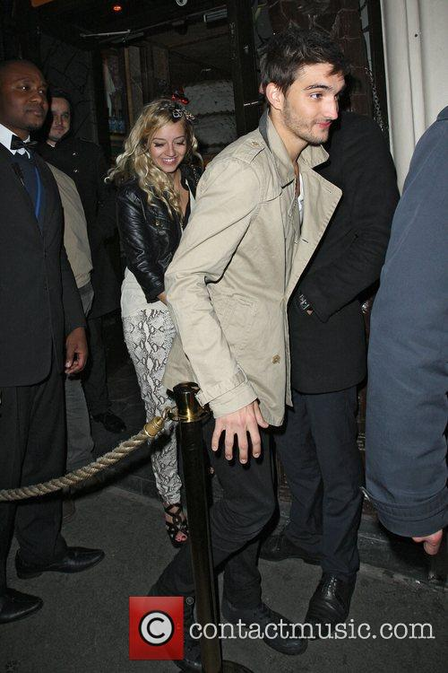 Tom Parker leaving Mahiki with girlfriend Kesley Hardwick