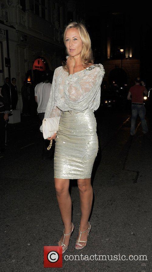 Lady Victoria Hervey leaving Mahiki nightclub. London, England