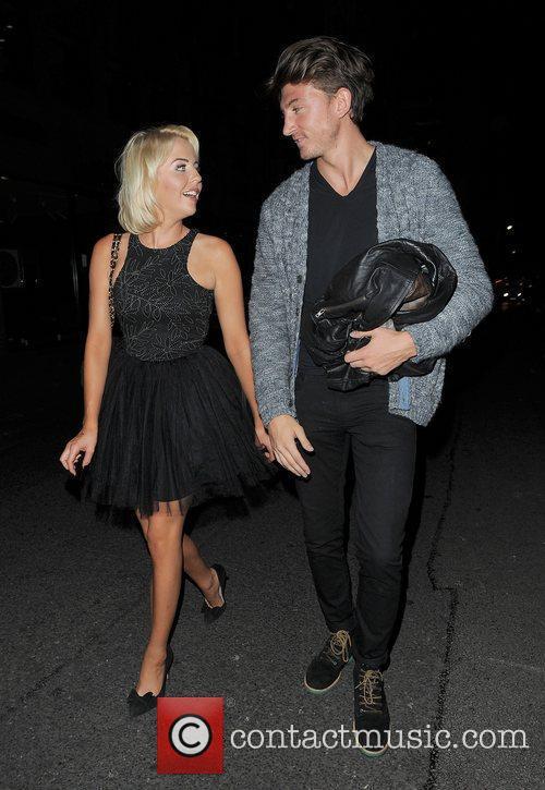Lydia Rose-Bright and Tom Kilbey leaving Mahiki nightclub....