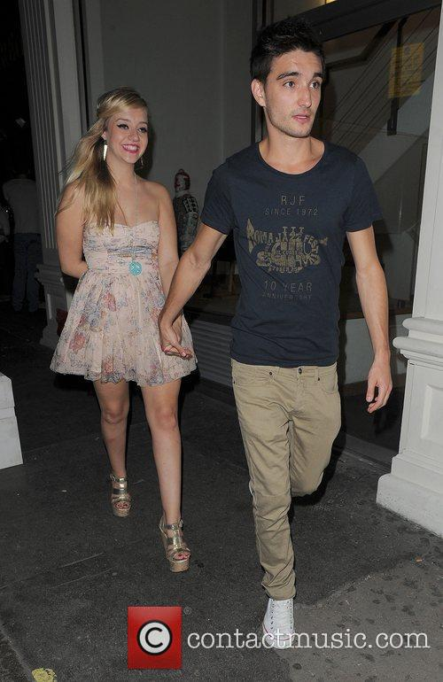 Tom Parker from 'The Wanted' and his girlfriend...
