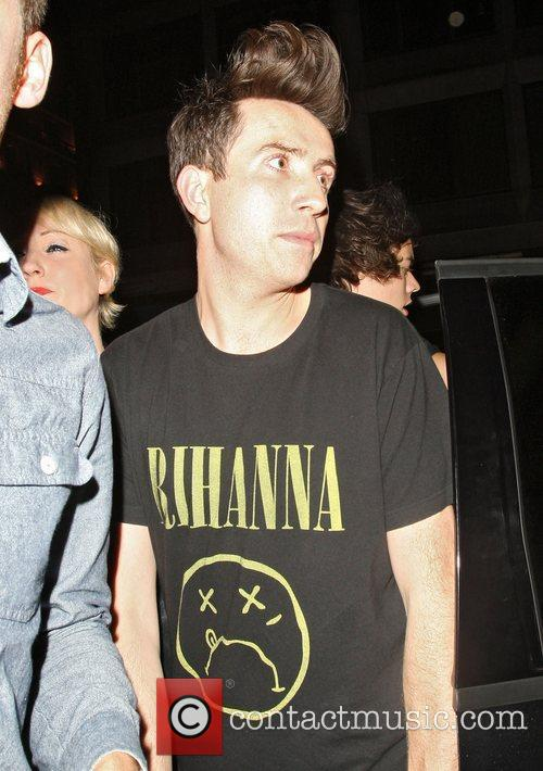 Nick Grimshaw arriving at Mahiki nightclub London, England