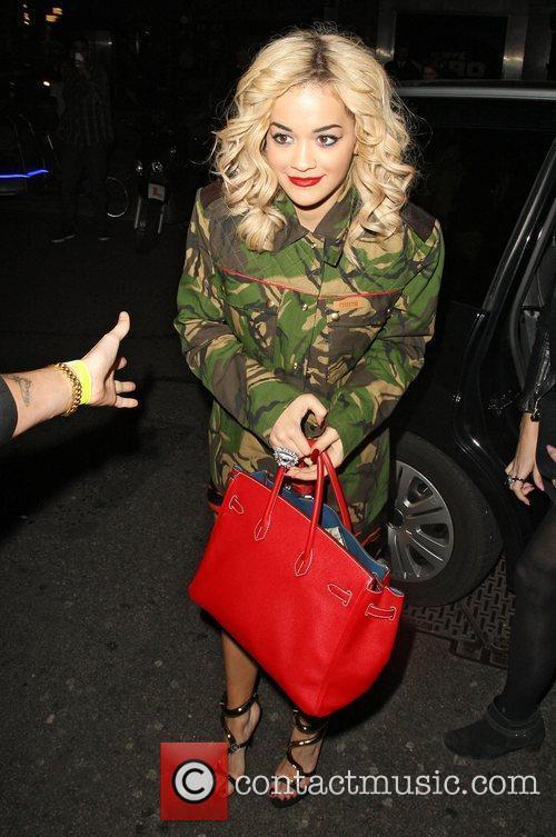 Rita Ora arriving at Mahiki nightclub London, England