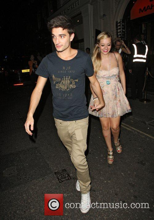 Tom Parker of 'The Wanted' and Kelsey Hardwick,...