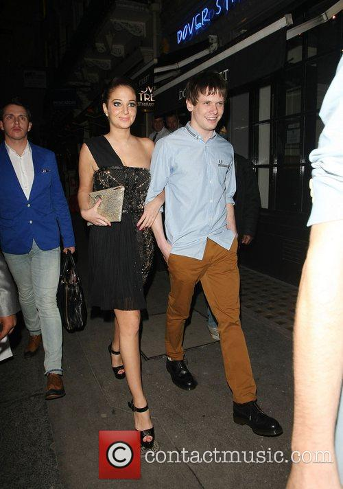 Tulisa Contostavlos arriving at Mahiki nightclub with boyfriend...