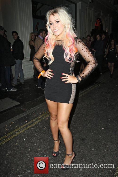 Amelia Lily,  leaving Mahiki Club. London, England