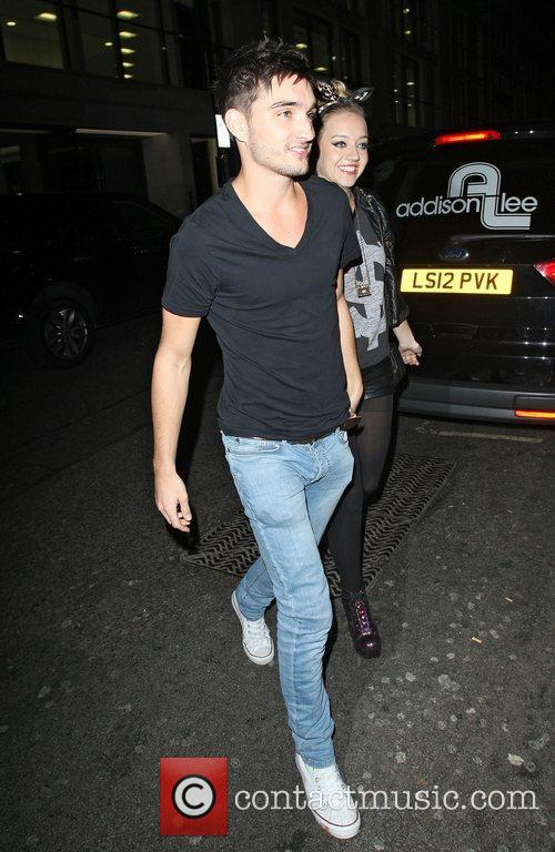 Tom Parker,  leaving Mahiki Club. London, England
