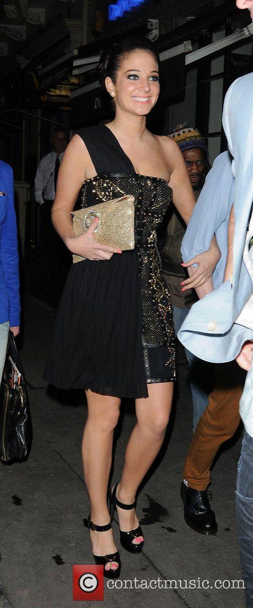 Tulisa Contostavlos arriving at Mahiki nightclub London, England