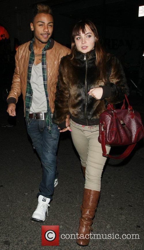 Marcus Collins and Sophie Habibis Celebrities enjoy a...